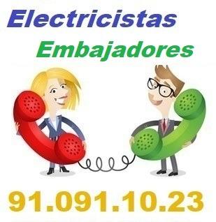 Telefono de la empresa electricistas Embajadores